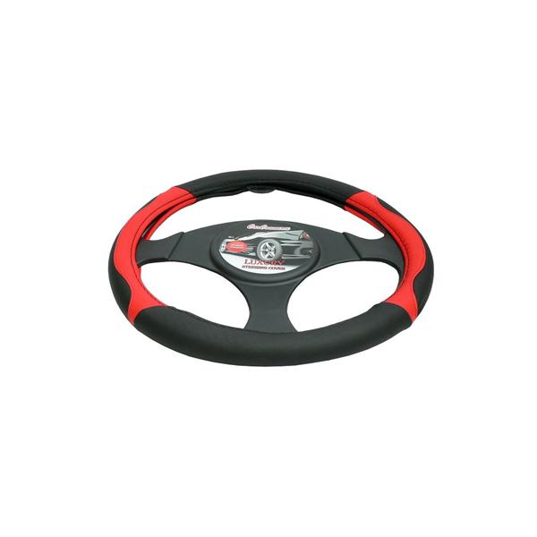 Pokrowiec kierownicy LUXUS czerwony 37-39cm
