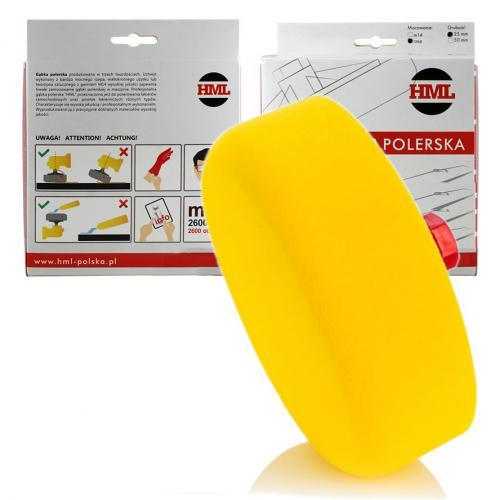 HML Pad polerski żółty średni gąbka 150 gwint m14