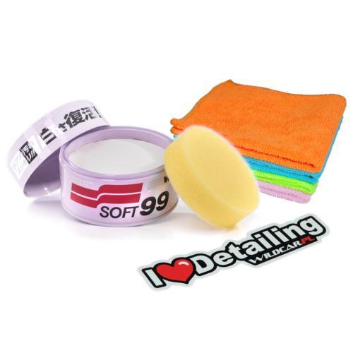 SOFT99 White Soft Wax Twardy wosk do białego auta