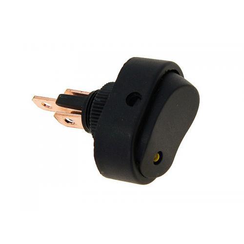 Przełącznik elektryczny DC z żółtą diodą, max 30A