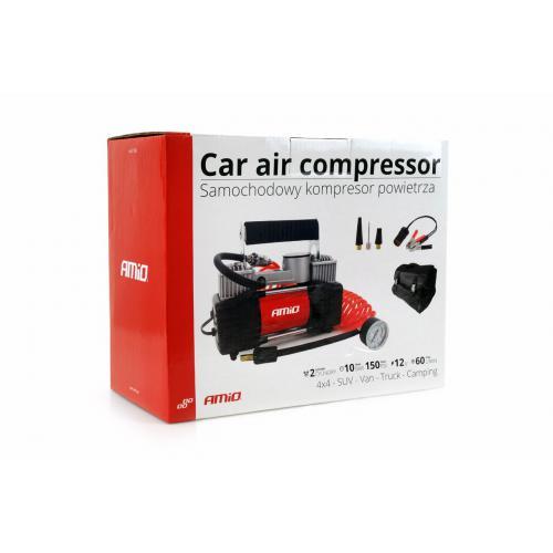 Kompresor samochodowy mocny dwutłokowy 12V 85L/min