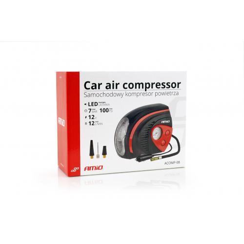 Kompresor samochodowy kompaktowy z latarką 100PSI