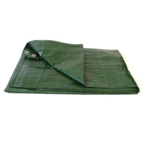 Plandeka zielona zaoczkowana mocna 5m x 8m 90gr/m2