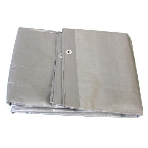 Plandeka srebrna zaoczkowana mocna 8 x12m 130gr/m2