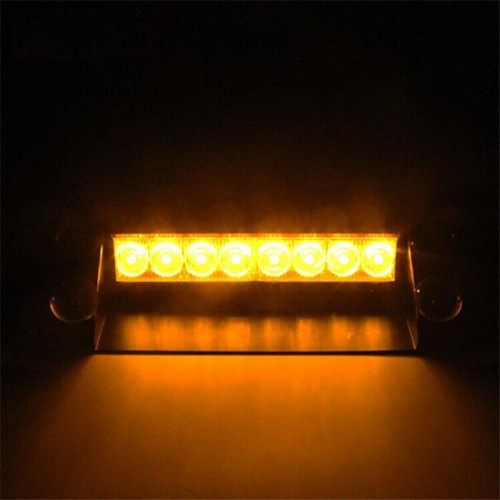 Stroboskopy na szybę przednią pomarańczowe LED 8W