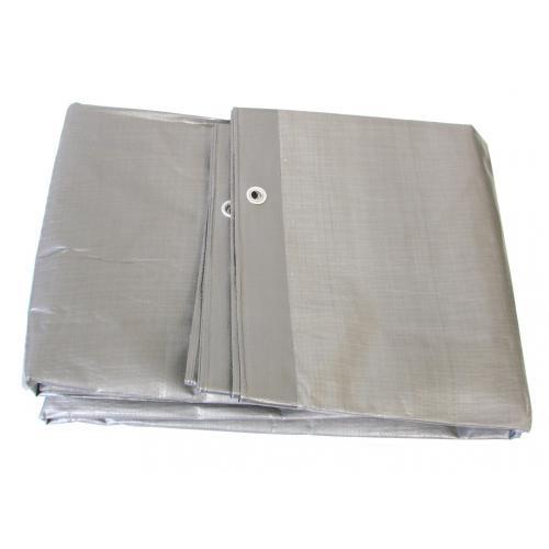 Plandeka srebrna zaoczkowana mocna 6 x10m 130gr/m2