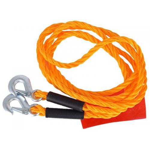 Linka holownicza sznur 3000kg z hakami 3T, 4m