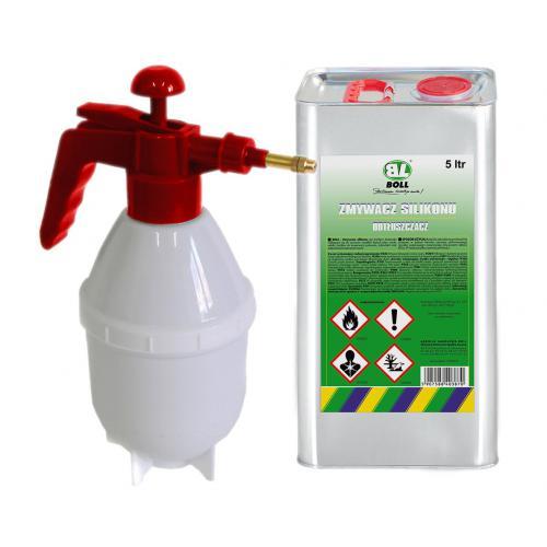 BOLL Zmywacz silikonu 5 L + Opryskiwacz 1,5 L PRO