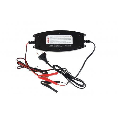 Prostownik elektroniczny ładowarka 6/12V LCD