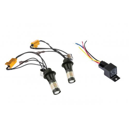 Światła do jazdy dziennej LED + kierunkowskazy
