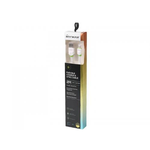 Kabel MYWAY do telefonu płaski USB-Lightning 200cm