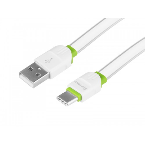 Kabel MYWAY do telefonu płaski USB-USB-C 200 cm