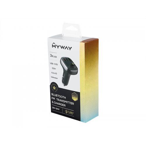 Transmiter FM Myway 12/24V USB-C PD QC4.0 AUTO ID