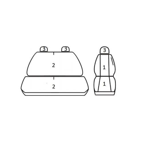 Pokrowce Uniwersalne COMFORT 2+1 T06