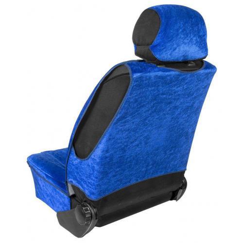 Pokrowiec na fotel profilowany XL Welur Niebieski