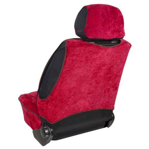 Pokrowiec na fotel uni profilowany XL Welur Bordo