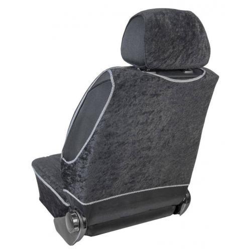 Pokrowiec na fotel uni profilowany XL Welur Czarny