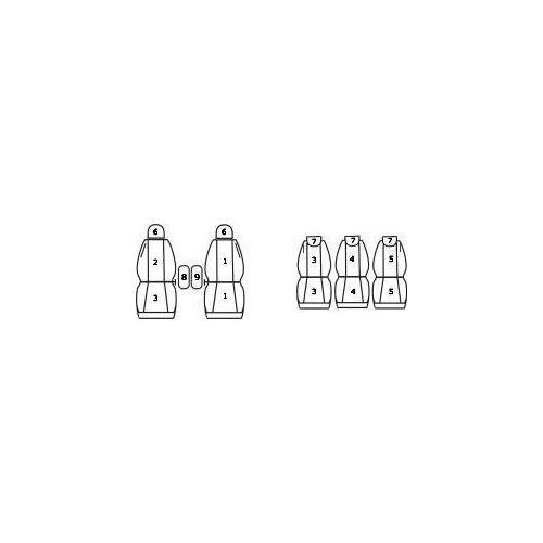 Pokrowce Citroen Xsara Picasso (5 foteli) 99-10