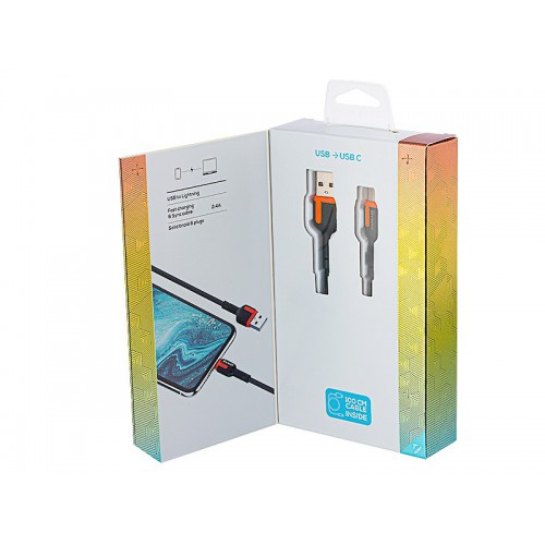Kabel MYWAY do telefonu w oplocie USB-USB-C 1m
