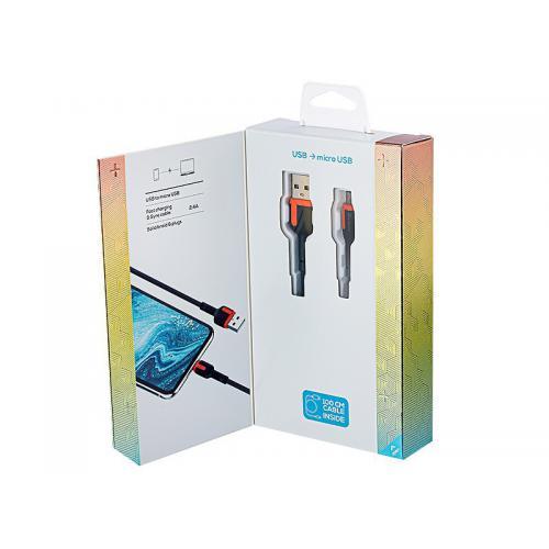 Kabel MYWAY do telefonu w oplocie USB-MICRO 1m