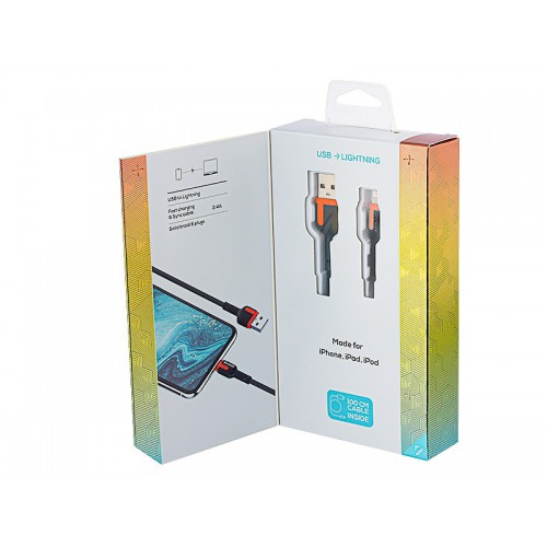 Kabel MYWAY do telefonu w oplocie USB-Lightning 1m