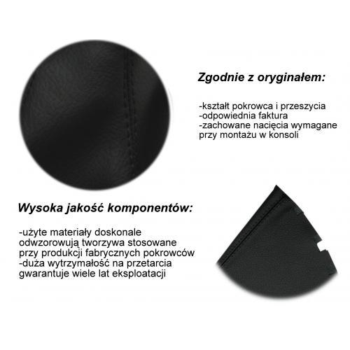 POKROWIEC BIEGÓW skóra AUDI A4 B5 czarny