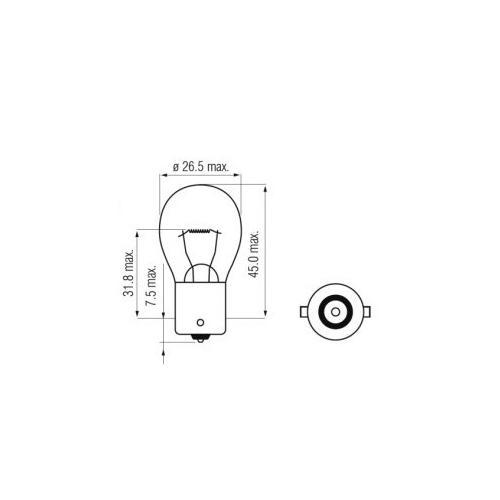 Żarówka halogenowa P21W Ba15s Litech