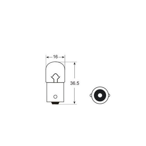 Żarówka halogenowa R5W BA15s Litech